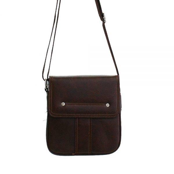 Brown Small Men Messenger Bag AB13045