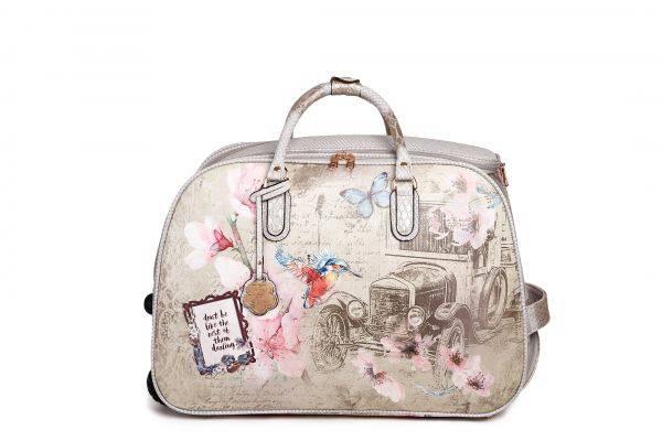 Grey Arosa Vintage Darling Duffle Handbag - BAD6988