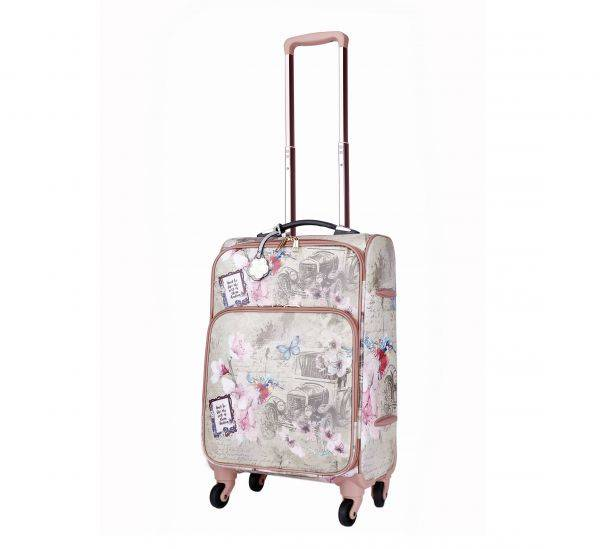 Grey Arosa Vintage Darling Carry-On Luggage - BAL6999