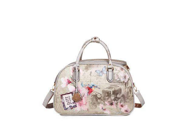 Grey Vintage Celestial Star travel Handbag - BAO6977
