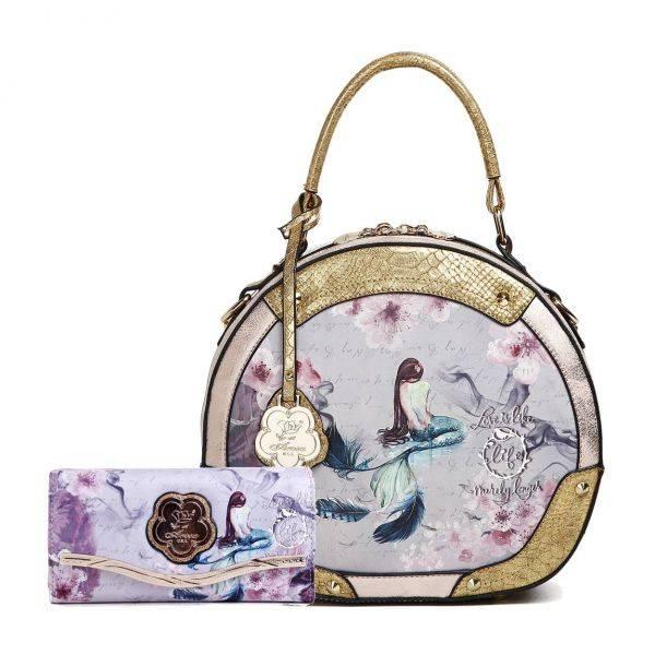 Gold Arosa Princess Mermaid Handbag Set - BC8102-BCW8682