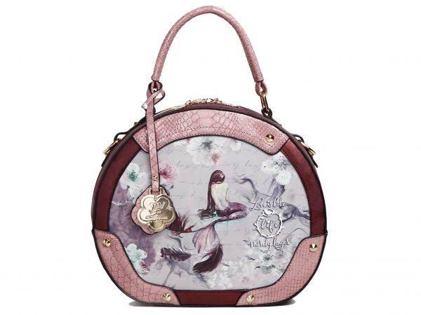 Burgundy Arosa Princess Mermaid Handbag - BC8102