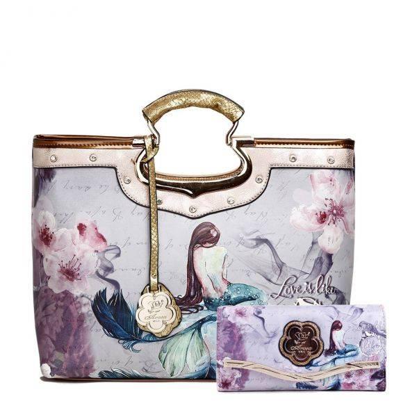 Gold Arosa Princess Mermaid Handbag Set - BC9282-BCW8682