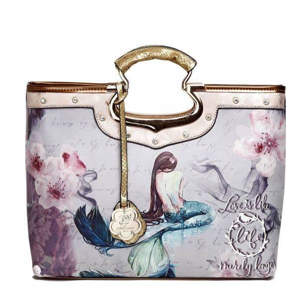 Gold Arosa Princess Mermaid Top Handle Tote Handbag - BC9282