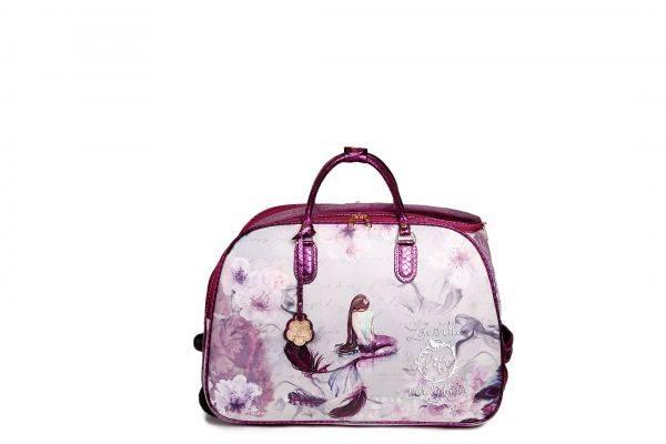 Purple Arosa Princess Mermaid Wheel Duffel Handbag - BCD6988