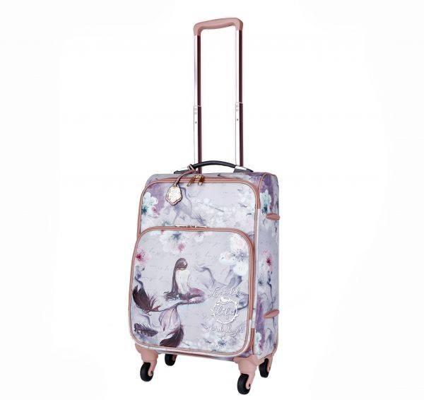 Burgundy Arosa Princess Mermaid Carry-On Luggage - BCL6999