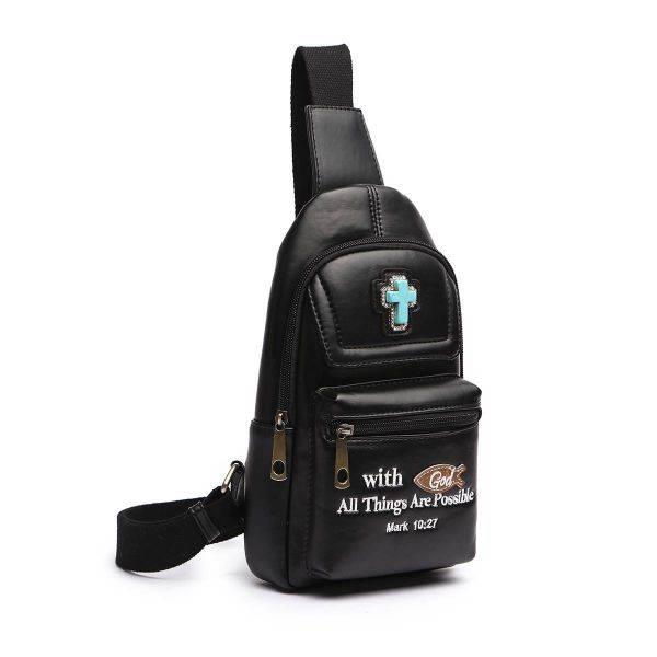 Black Mark 10:27 Over-The-Shoulder Fanny Pack - BCU 5656
