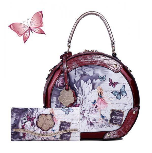 Burgundy Arosa Dreamers Handbag - BF8102-BFW8682