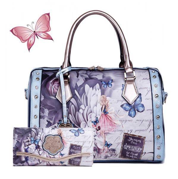 Green Arosa Dreamers Handbag and Wallet - BF8607-BFW8682