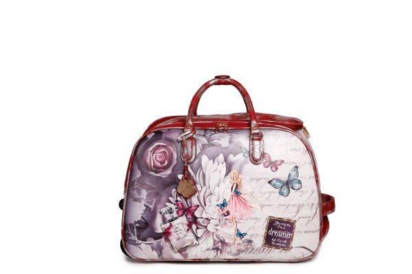 Burgundy Arosa Dreamers Slide-On Duffel Handbag - BFD6988