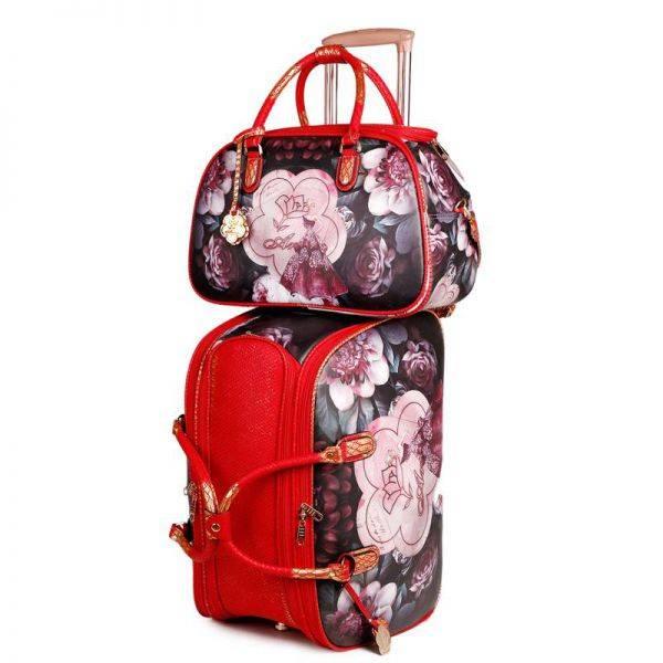 Burgundy Arosa Dreamers Carry-On Luggage Set - BGO6977-BGD6988