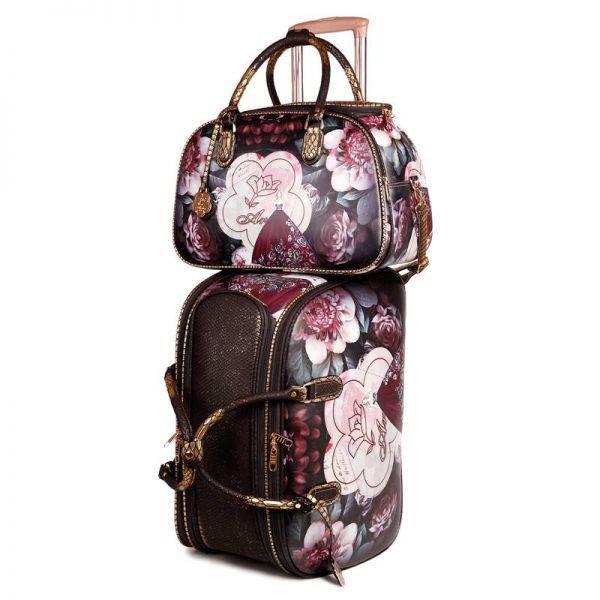 Black Arosa Dreamers Carry-On Luggage Set - BGO6977-BGD6988