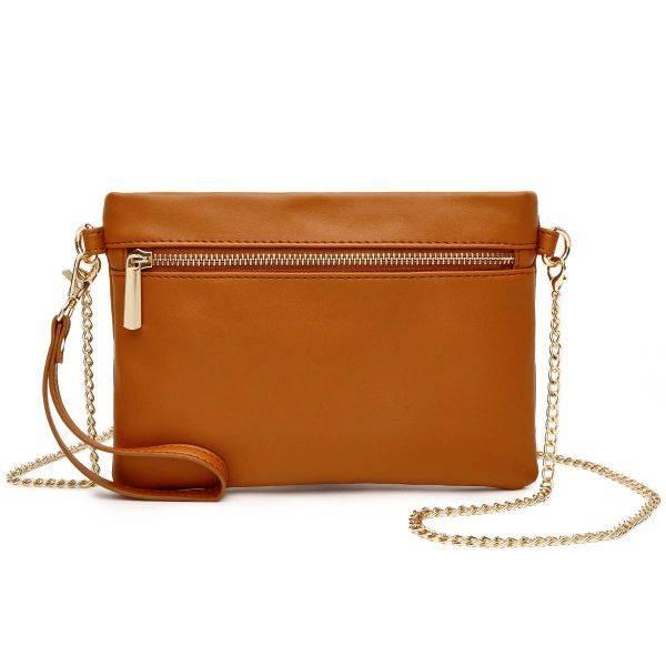 Brown Fashion Crossbody Clutch Wristlet - BH 830