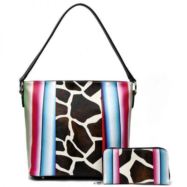 Black Western Cowgirl 2-in-1 Shoulder Handbag - SERA 5435G
