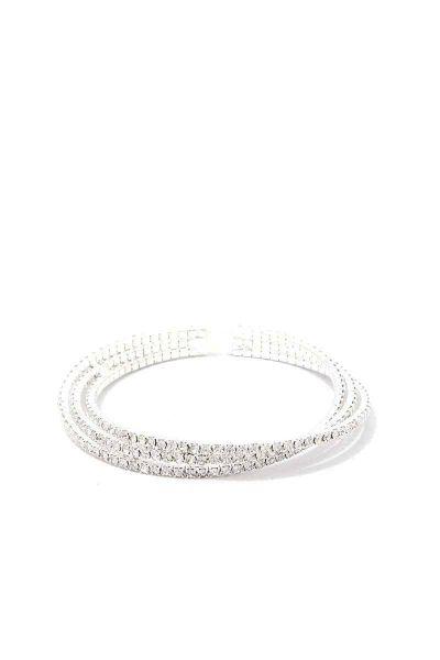 Multi Twist Rhinestone Bracelet