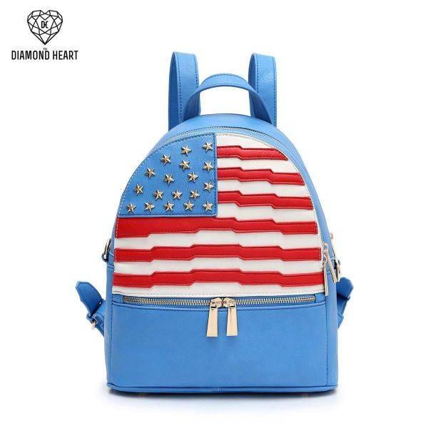 Blue American Flag Fashion Backpack - DH 265