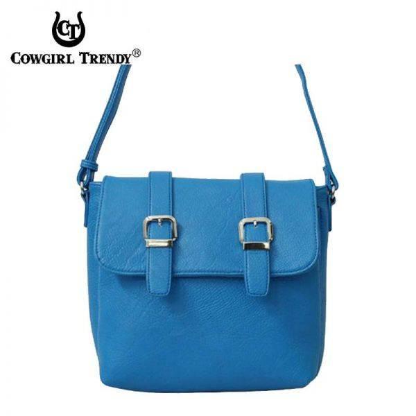 Blue Fashion Two Belts Messenger Bag - ER 5061