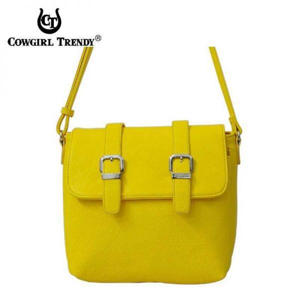 Mustard Fashion Two Belts Messenger Bag - ER 5061