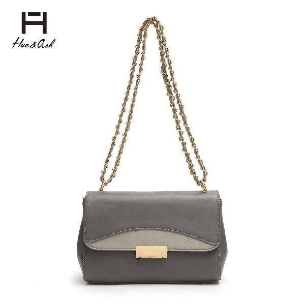 Gray Fashion Chain Strap Messenger Bag - HNA 2048