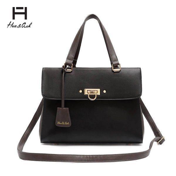 Black Designer inspired Flap Handbag - HNA 2049