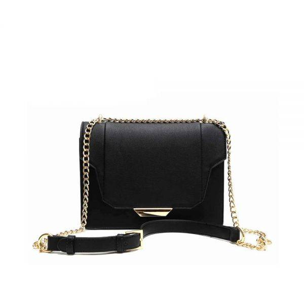 Black 'Hue & Ash' Messenger Bag - HNA 1031