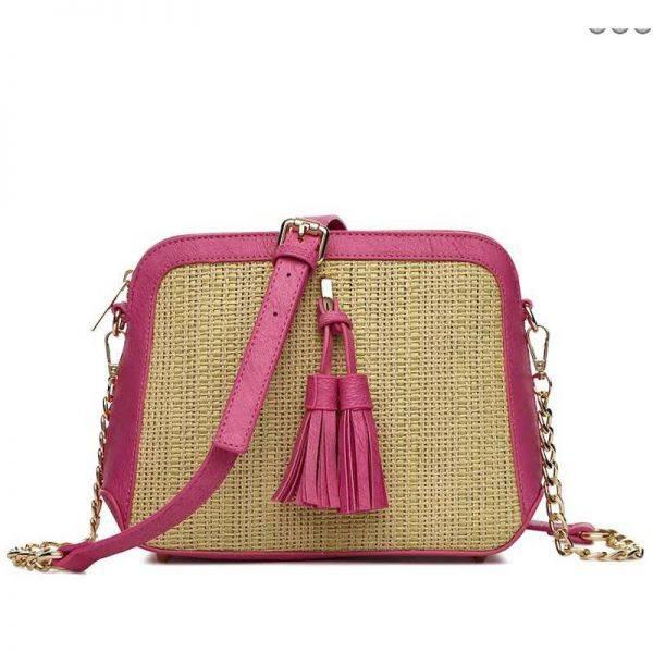Fuchsia Hue & Ash Satchel Cute Messenger Bag - HNA 2544
