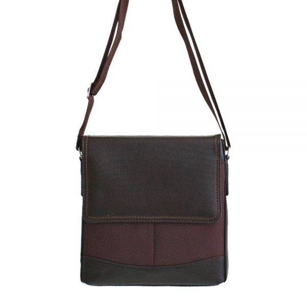 Brown Men Messenger Bag JOS001