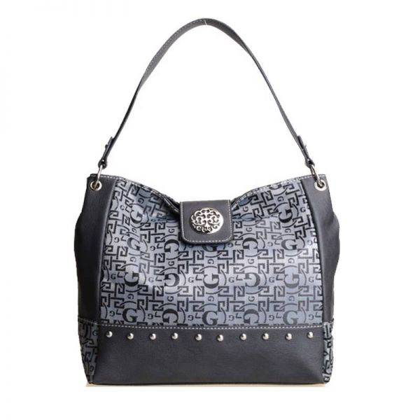 Gray Signature Style Wholesale Tote Handbag - K1535