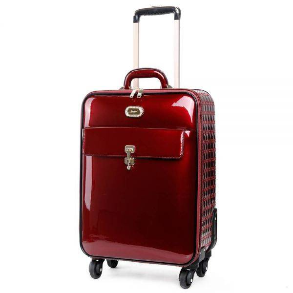 Burgundy Euro Moda Carry-On Luggage - KBL8899
