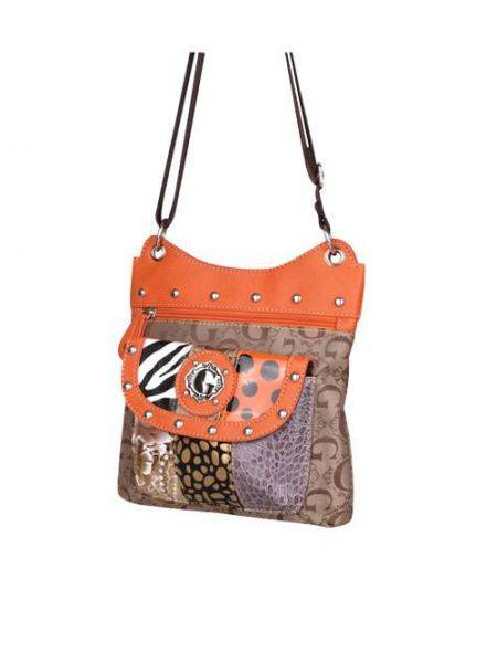 Orange G-Style Messenger Bag - KE1402