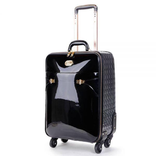 Black Tri-star Elegant Carry-On Luggage - KZL8899
