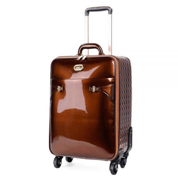 Bronze Tri-star Elegant Carry-On Luggage - KZL8899