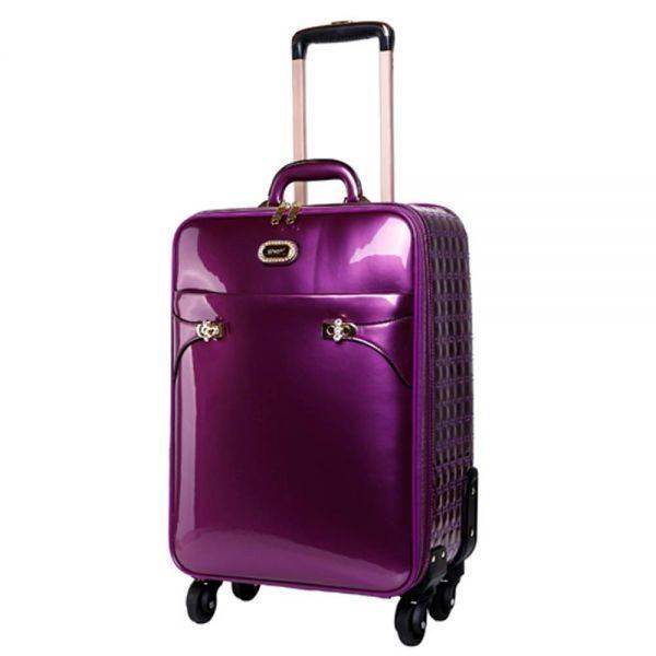 Purple Tri-star Elegant Carry-On Luggage - KZL8899