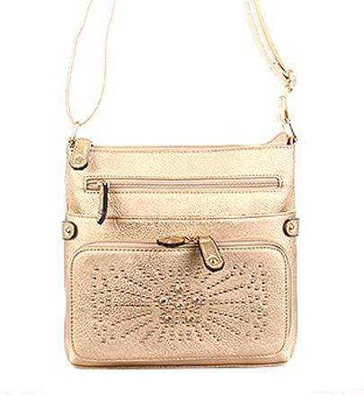Gold Fashion Messenger Bag - LS0151-1