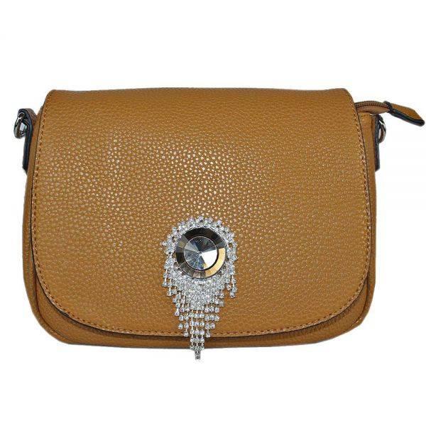 Brown Fashion Crossbody Messenger Bag - LS0393