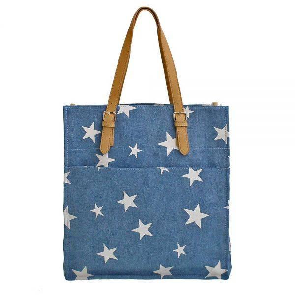 Blue Fashion 'Stars' Tote Bag - LS0394