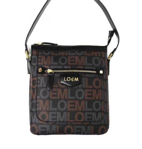 Black LOEM Signature Inspired Messenger Bag - LT-598