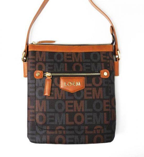 Brown LOEM Signature Inspired Messenger Bag - LT-598