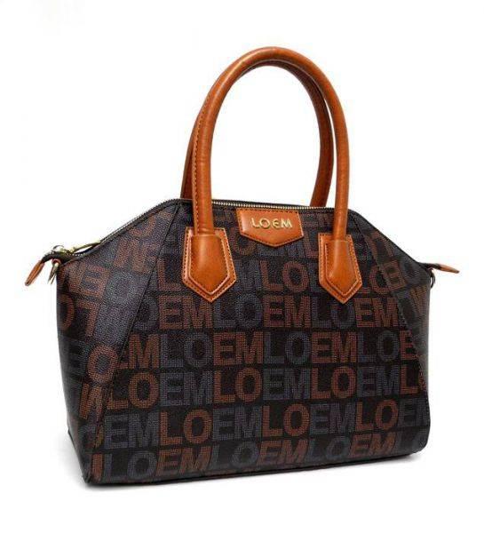 Brown LOEM Signature Fashion Satchel Bag - LT-608