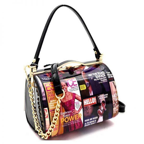 Black Michelle Obama Magazine Handbag - MB5265
