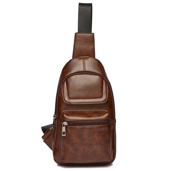 Brown Over Shoulder Multi Compartment Sling Bag - MBA 5656