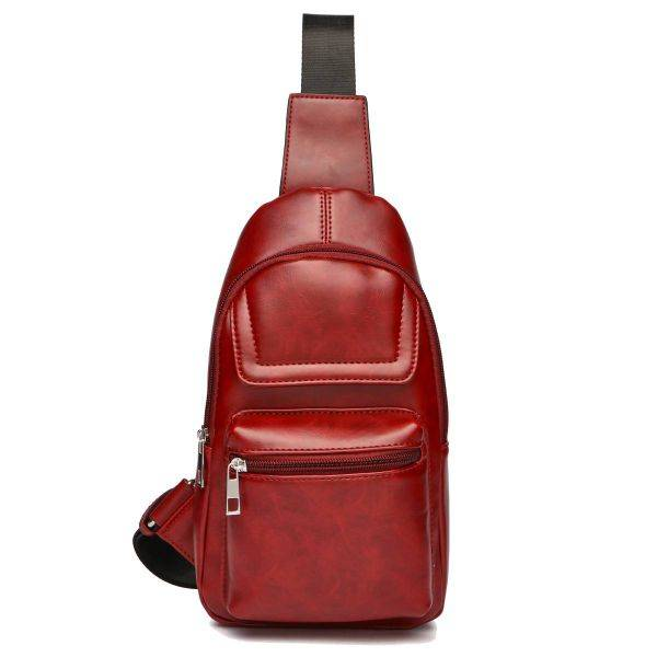 Burgundy Over Shoulder Multi Compartment Sling Bag - MBA 5656