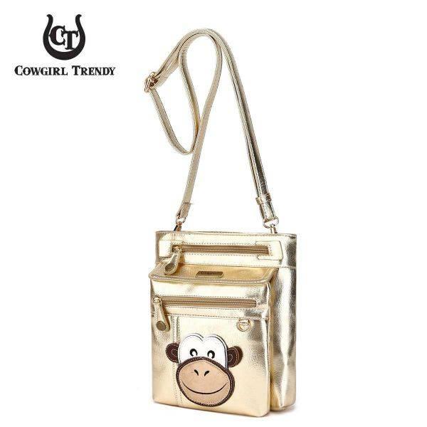 Gold Monkey Patched Messenger Bag - MOKY 5459