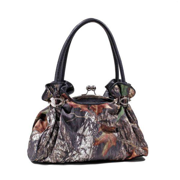 Black 'Mossy Oak' Shoulder Handbag - MT1-51858 MO