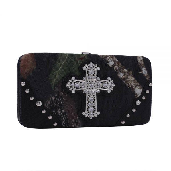 Black 'Mossy Oak' Hard Case Wallet - MT1-AW251 MO/BK