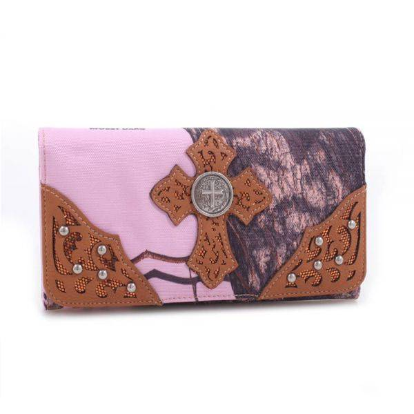 Brown 'Mossy Pine' Tri-Fold Wallet - MT1-W0346 MP/BR