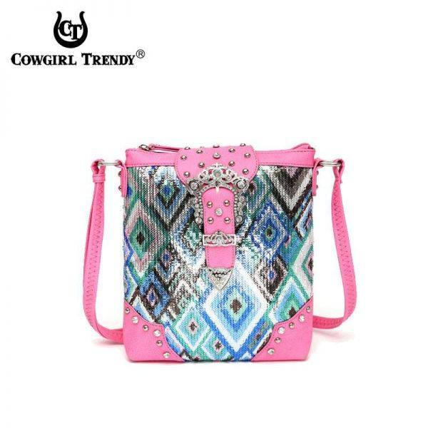D.Pink Western Cowgirl Messenger Bag - NEM 9469B