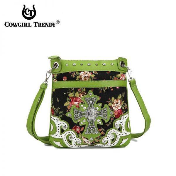 Lime Western Cowgirl Messenger Bag - OFR2 470