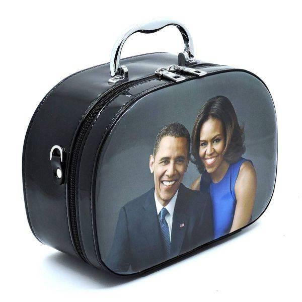 Black Michelle Obama Magazine Cover Cosmetic Case - PC0086-1