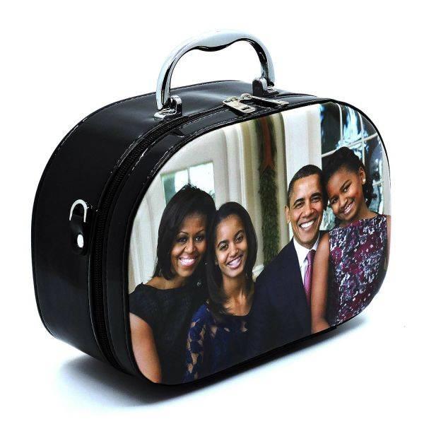 Black Michelle Obama Magazine Cover Cosmetic Case - PC0086-4